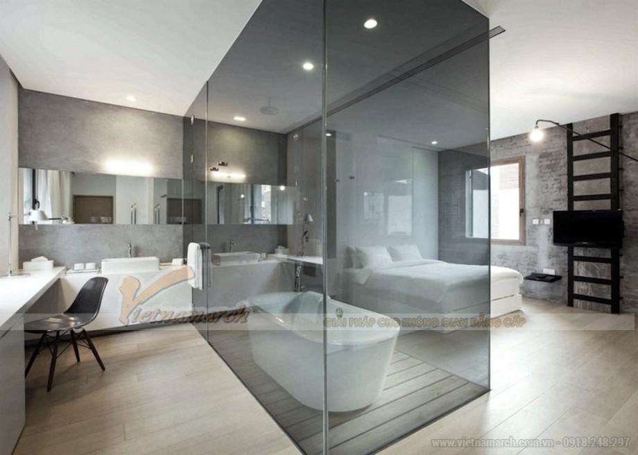Phòng tắm ngay trong phòng ngủ