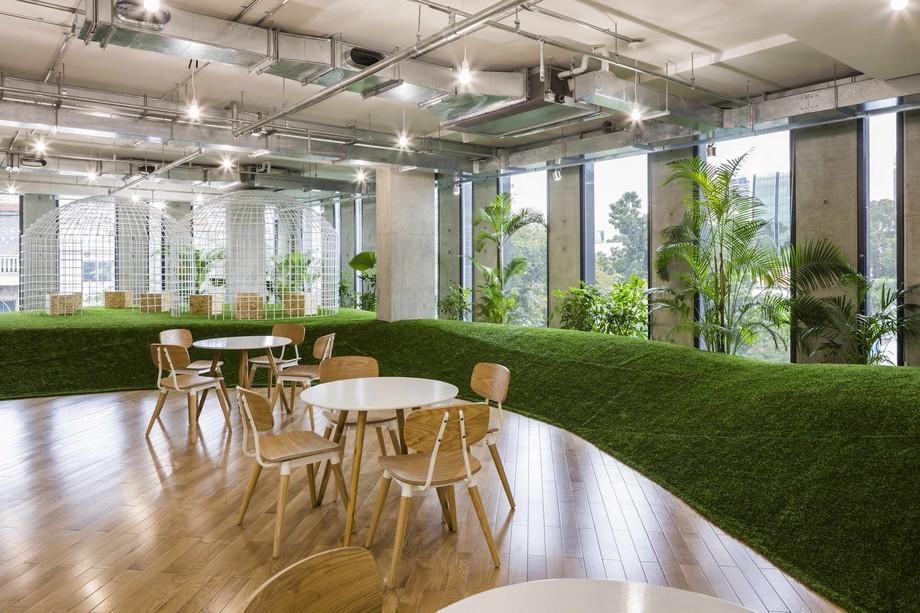 Phong cách thiết kế văn phòng xanh