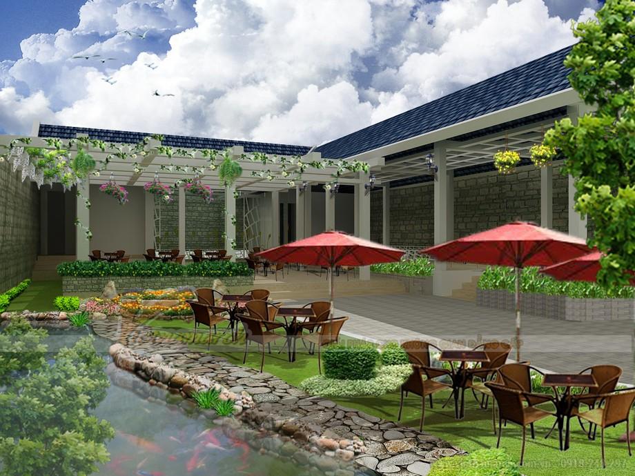 Top 5 cách thiết kế quán cà phê theo phong cách sân vườn hoàn hảo nhất