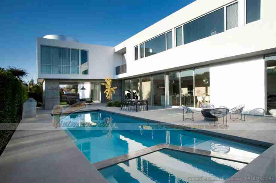 Choáng ngợp với căn biệt thự được thiết kế theo lối kiến trúc mở