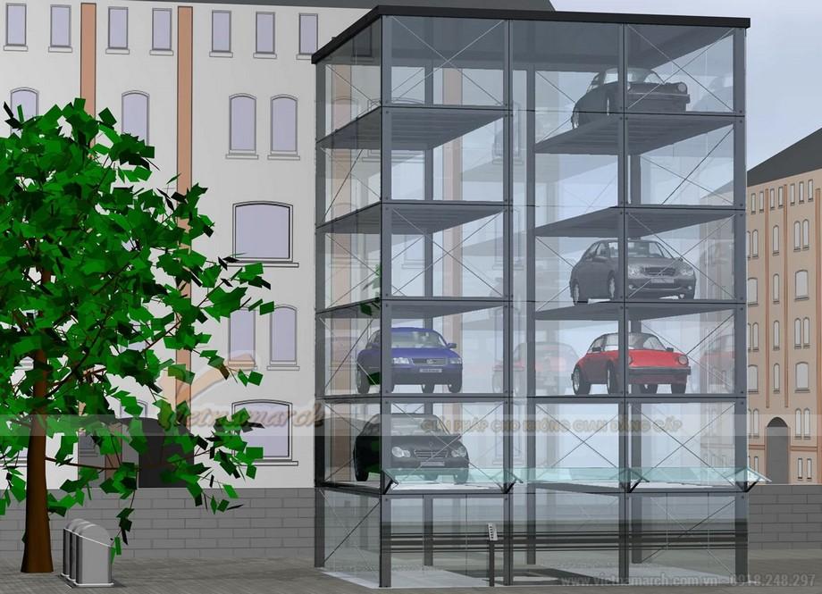Bãi đỗ xe tự động dạng hình tháp