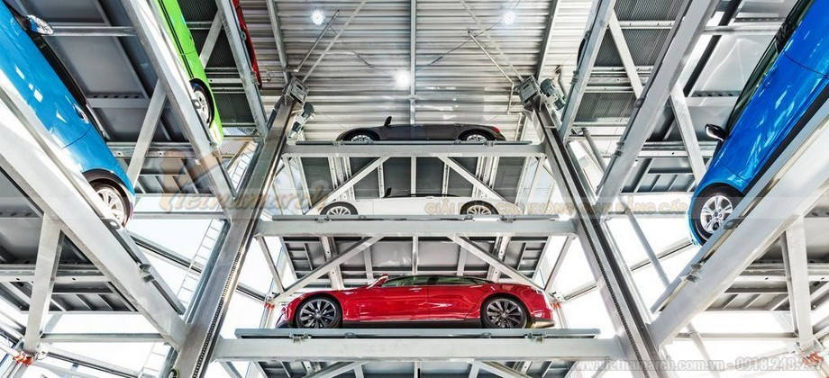 Ứng dụng hệ thống đỗ xe tự động dạng tháp