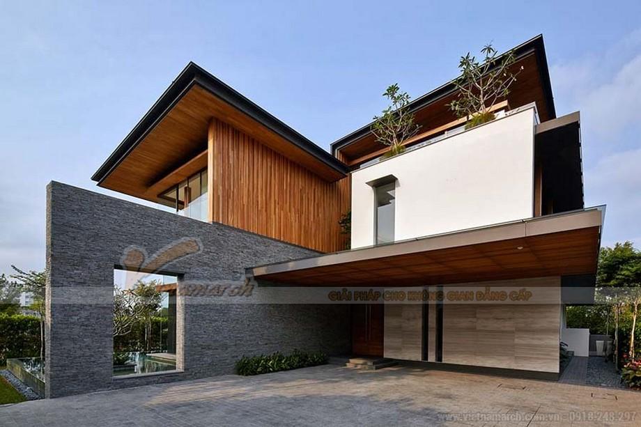 Mẫu biệt thự hiện đại với thiết kế hình khối vô cùng độc đáo