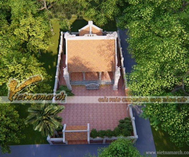 Thiết kế nhà thờ họ 2 mái có hậu cung tại Hải Dương