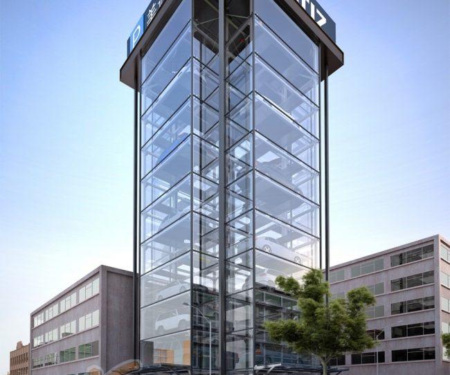 Bãi đỗ xe thông minh dạng tháp