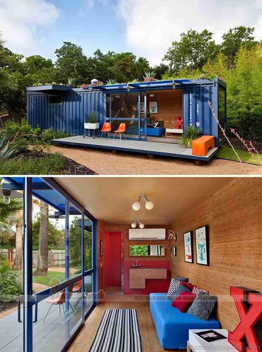 Nhà khách container bởi các kiến trúc sư từ Poteet