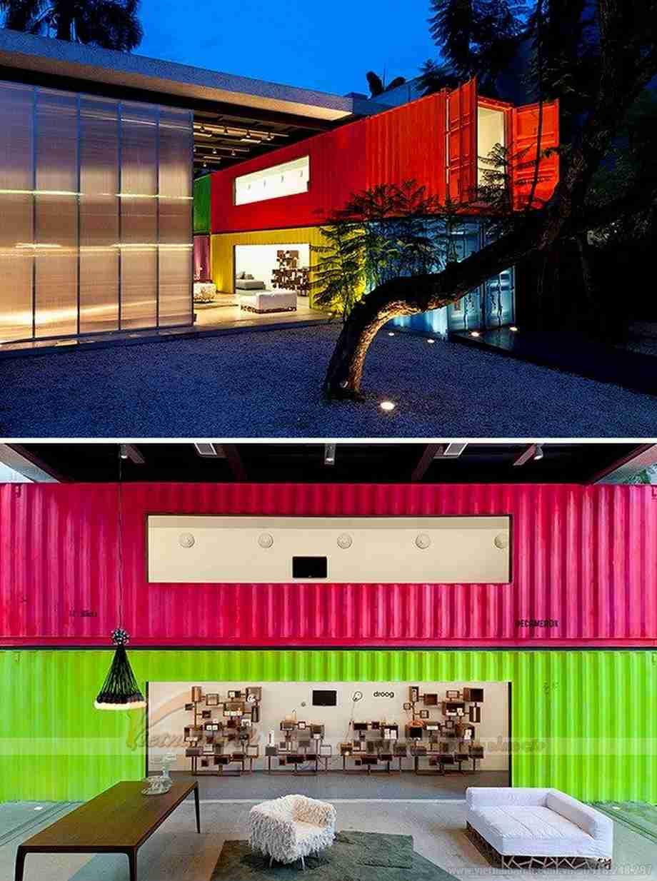 Ngôi nhà container màu sắc tại Sao Paulo