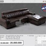 Mẫu sofa da cao cấp DG504 nhập khẩu đẹp đến từng chi tiết