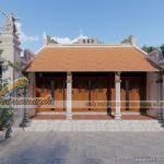 Thiết kế nhà thờ họ 3 gian 2 mái của chú Vinh tại Hòa Bình