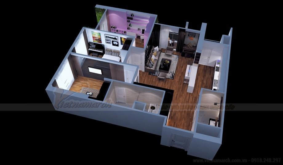 Mặt bằng thiết kế nội thất căn hộ 17 Park 11