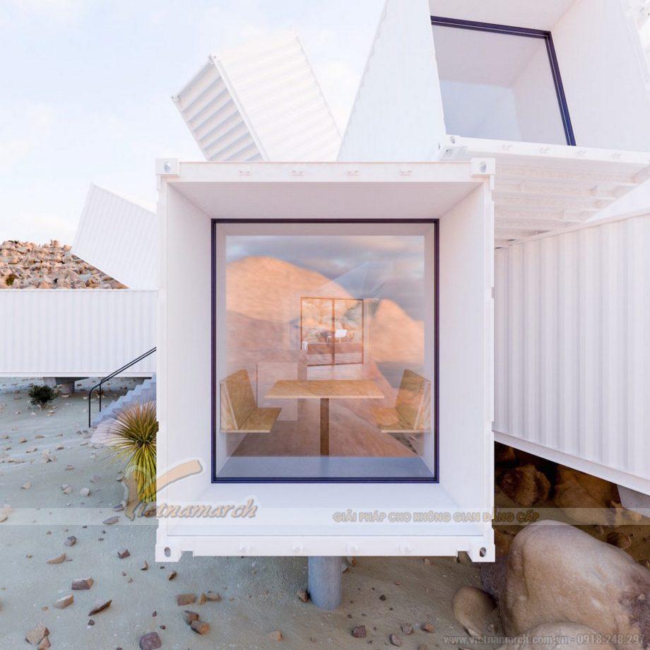 Chiêm ngưỡng căn nhà Container trắng tinh mọc lên giữa sa mạc- Thách thức khí hậu khắc nghiệt