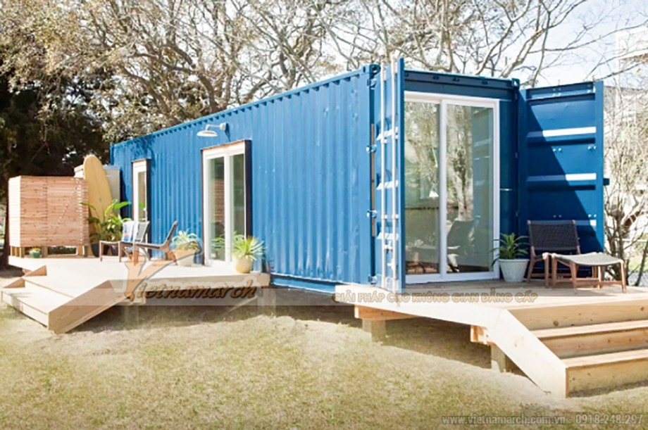 Ngôi nhà Container cho gia đình 4 người sau khi hoàn thiện và đưa vào sử dụng