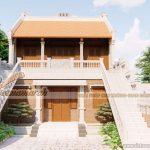 Phương án thiết kế từ đường 2 tầng nhà chú Hòa ở Quảng Bình