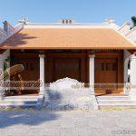 Phương án thiết kế nhà thờ họ 3 gian 2 mái nhà chú Vinh ở Vĩnh Phúc
