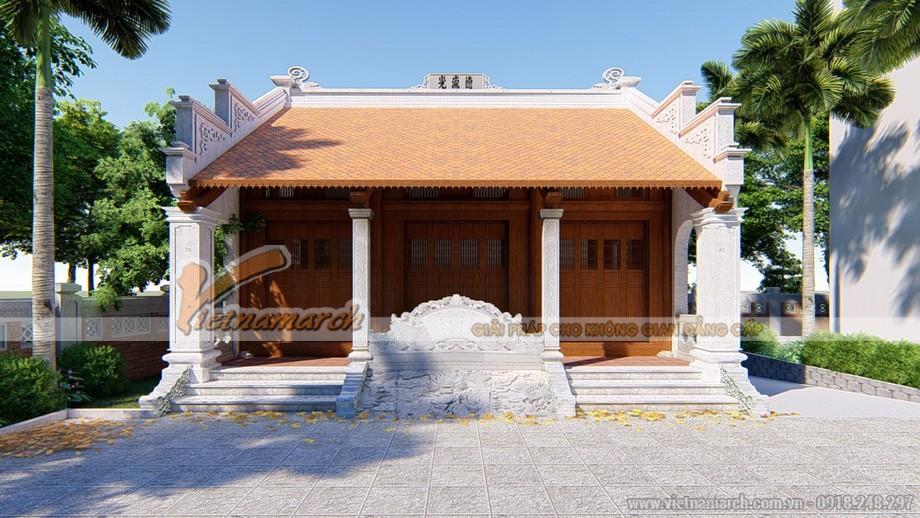 Nhà thờ họ gia đình 3 gian 2 mái đẹp đơn giản tại Vĩnh Phúc