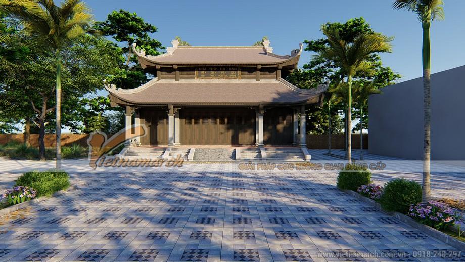 mẫu nhà thờ tổ 8 mái cong đầu rồng tại Thanh Hóa