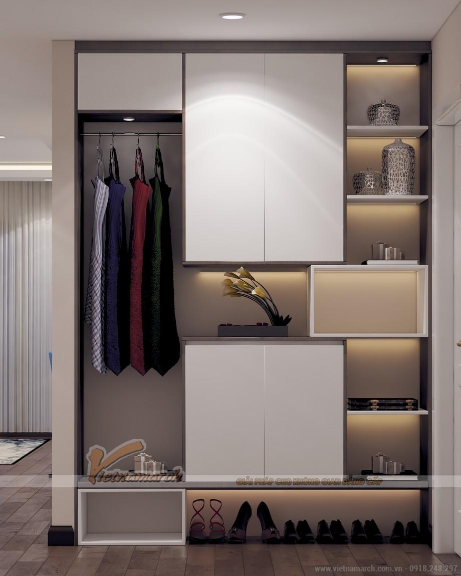 Mẫu tủ giày, tủ đề đồ thiết kế hiện đại