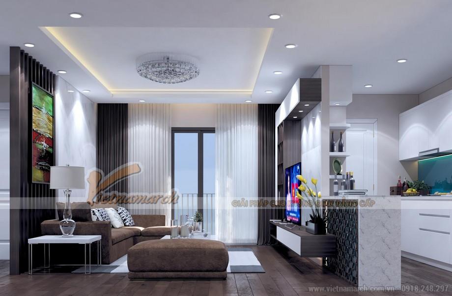 Nội thất phòng khách thiết kế hiến đại với view vô cùng đẹp và thoáng