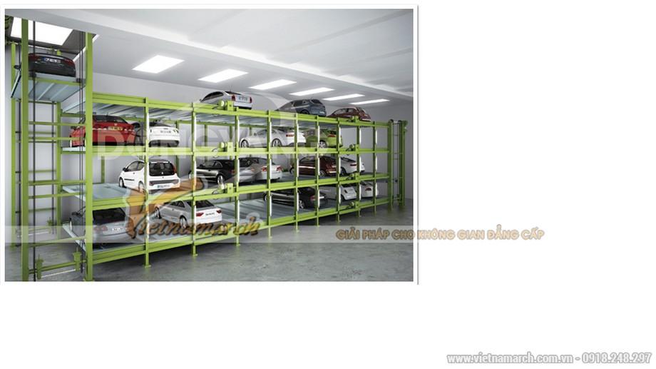 Hệ thống bãi đỗ xe thang nâng - quay vòng tầng