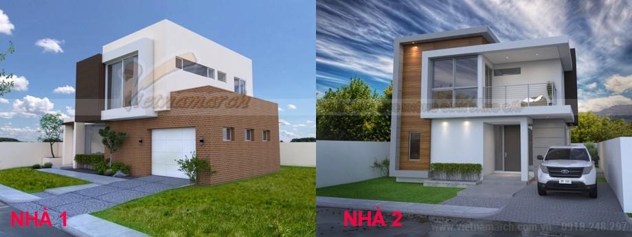 Mẫu nhà 2 tầng đẹp hiện đại