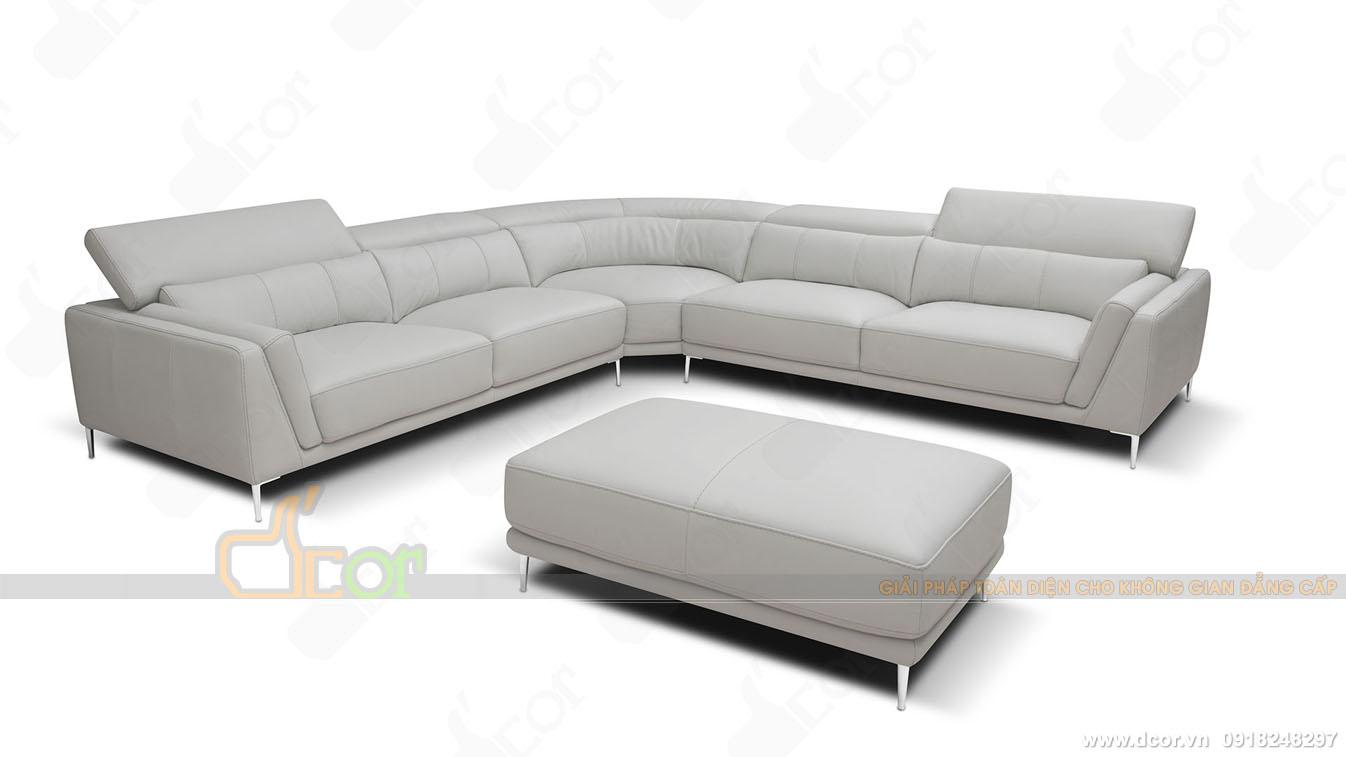Sofa nhập khẩu Italia màu sáng thanh lịch