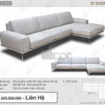 Kiệt tác sofa da thật 100 % : DG 140  Tivoli Sectional Sofa