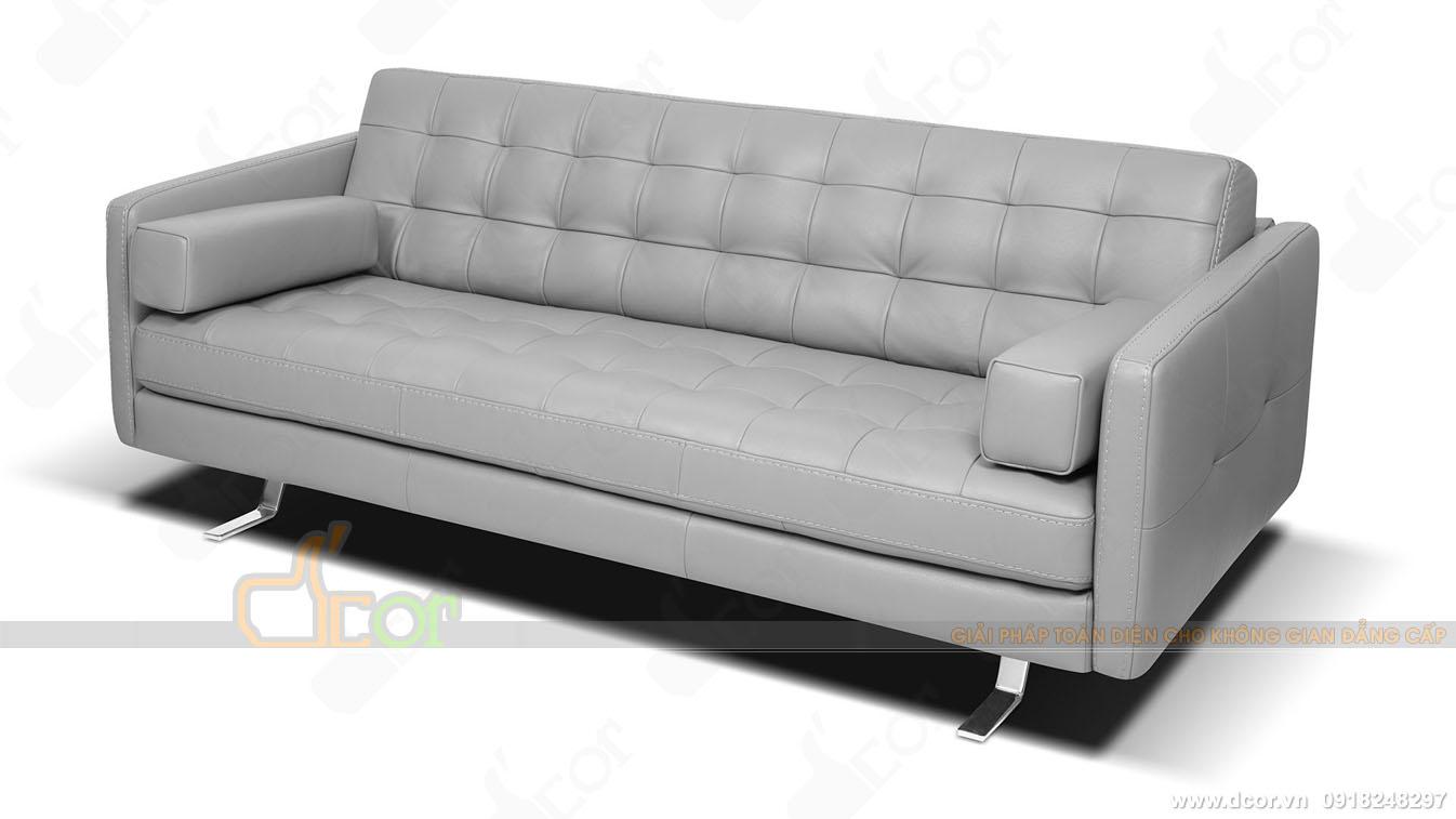 Mẫu sofa văng dài hiện đại màu ghi nhập khẩu Malaysia