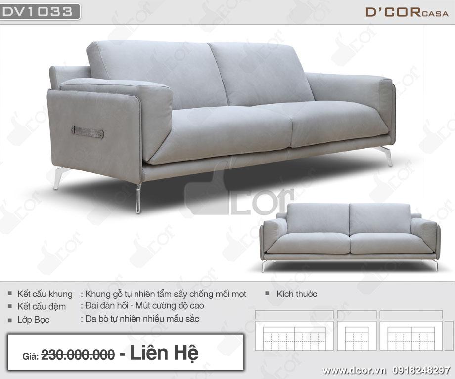 Thông số sản phẩm ghế sofa phòng khách DV 1033 Montgomery Italia