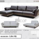 Sofa da thật nhập khẩu đẹp hoàn hảo- DV1035 Parma Italia