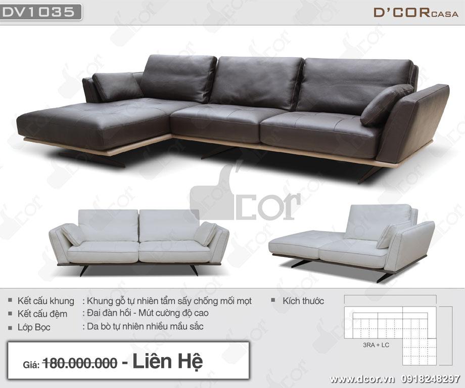 sofa da thật DV1035 Parma Italia