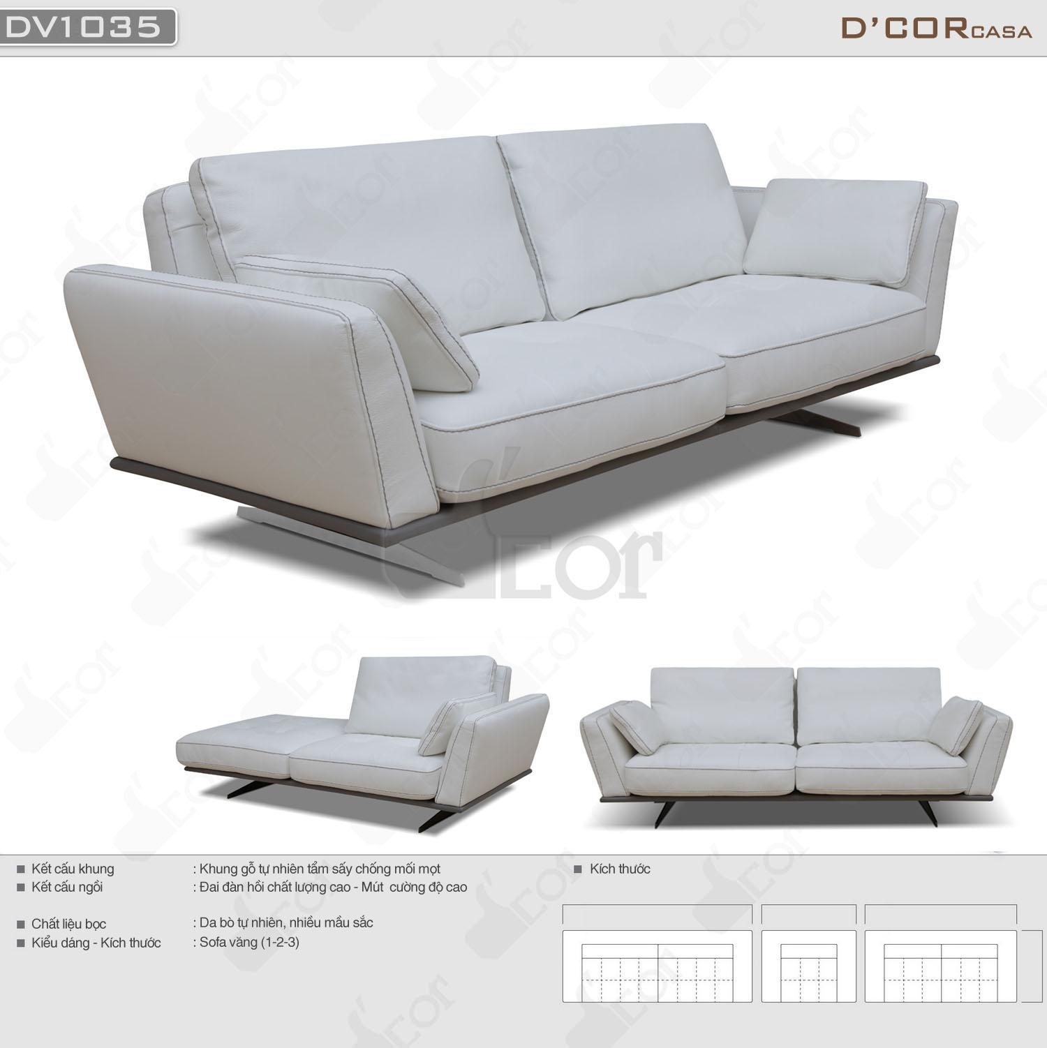 Mẫu sofa Ý nhập khẩu màu trắng hiện đại