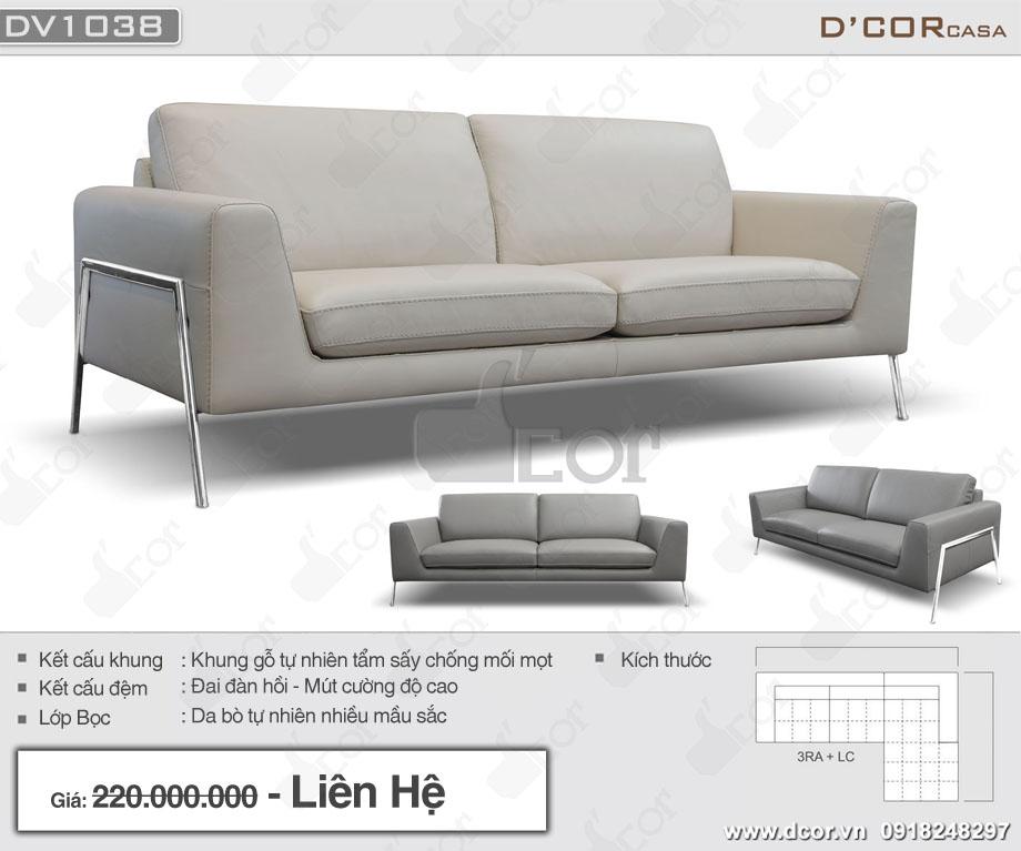 Thông số sofa đẹp theo phong cách hiện đại DV 1038 Tiffany Italia