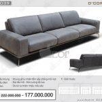 Sự pha trộn tuyệt đẹp giữa cổ điển và hiện đại trong sofa da cao cấp nhập khẩu Saporini Tivoli Italia