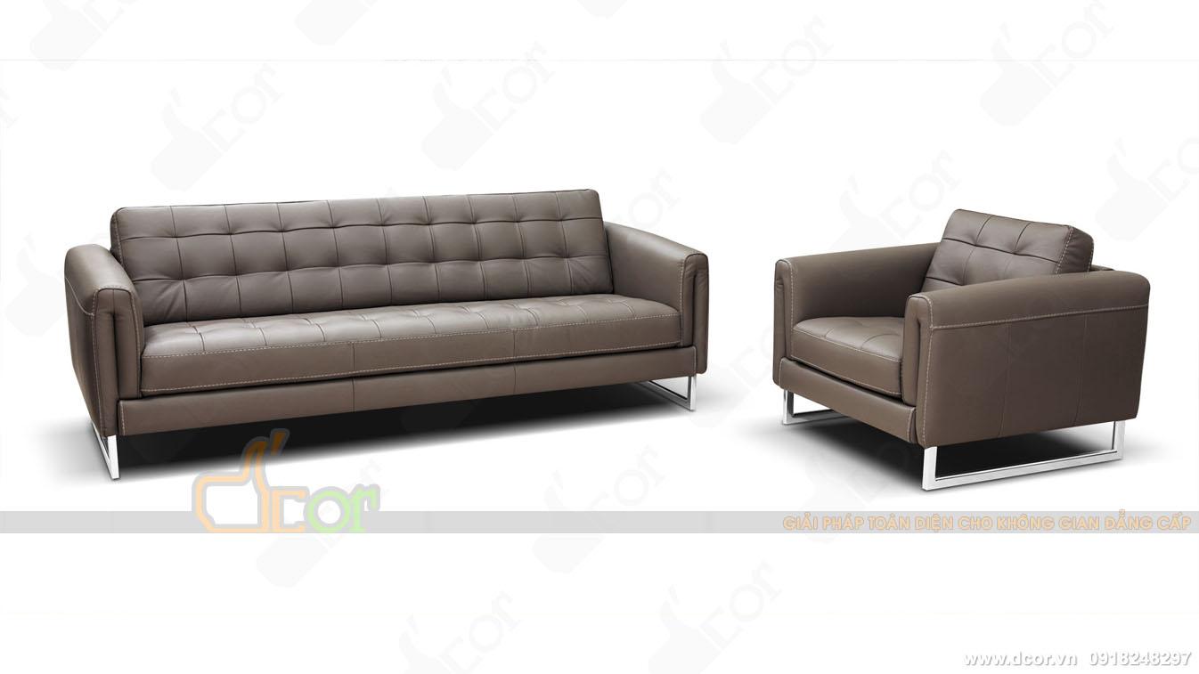 Sofa văng da tân cổ điển nhập khẩu Ý
