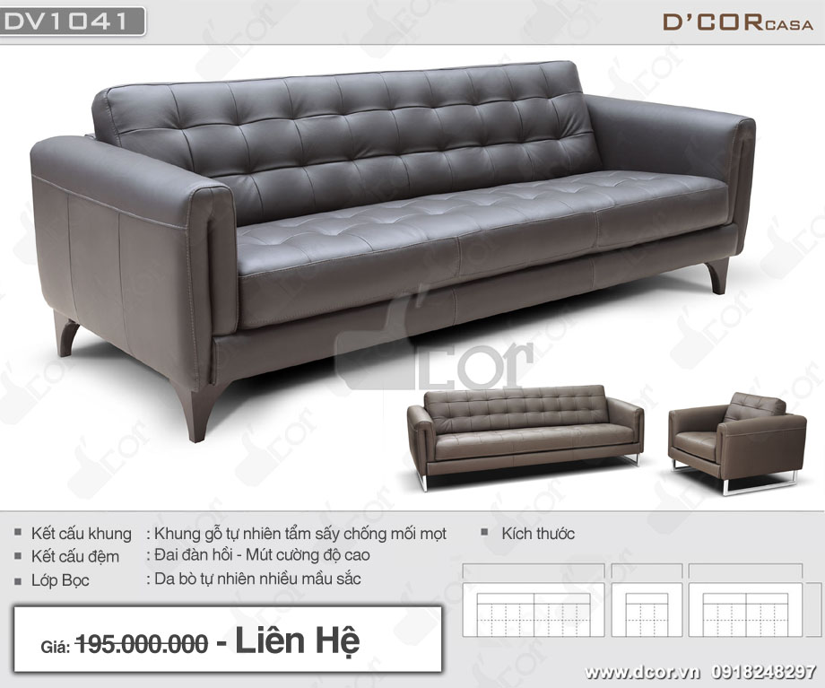 Thông số ghế sofa ý cao cấp DV 1041 Tonia Italia