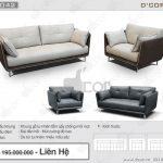 Sự tương phản màu sắc ấn tượng với sofa văng DV 1042 Trevi Italia