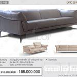 DV 1045 Calia Italia 1060 – Eliser- Bộ sofa da mang đậm phong cách Italia