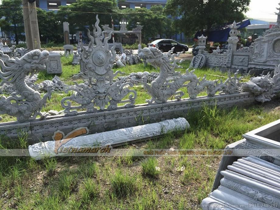 Mẫu rồng chầu mặt nguyệt được làm từ xi măng khuôn bê tông