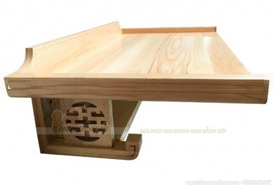 Mẫu bàn thờ treo gỗ sồi Nga - 01
