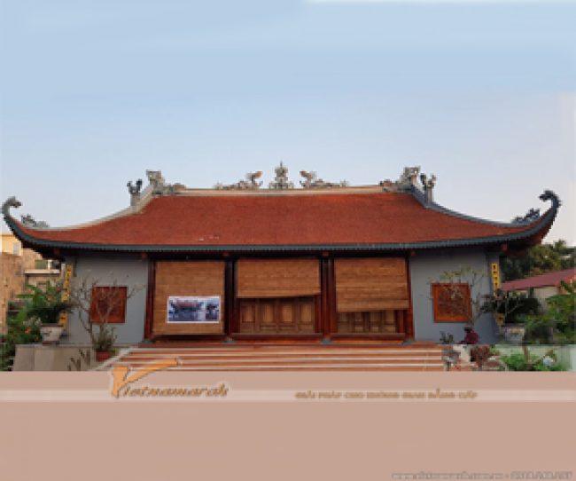 Thi công hoàn thiện nhà thờ họ 4 mái tại Thanh Hóa