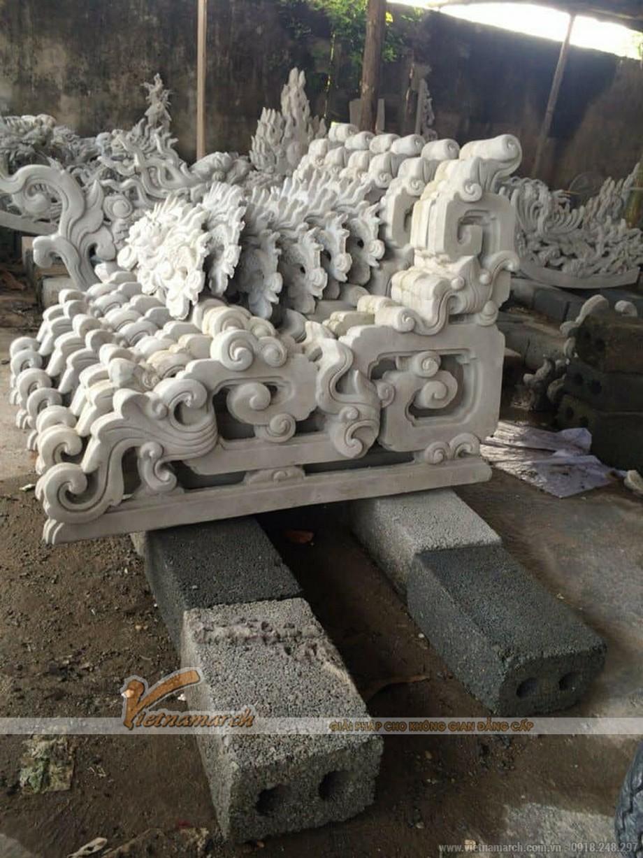 Các chi tiết trang trí được làm bằng bê tông vững chắc