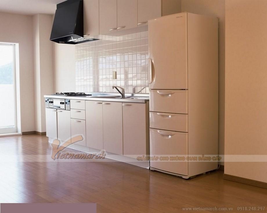 Tủ bếp chung cư thiết kế đơn giản