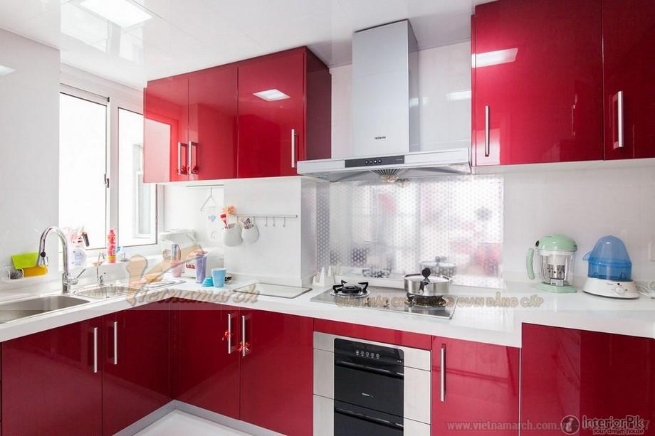 Màu sắc tủ bếp chung cư