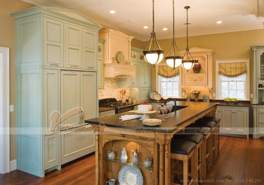 Mẫu tủ bếp đẹp tân cổ điển