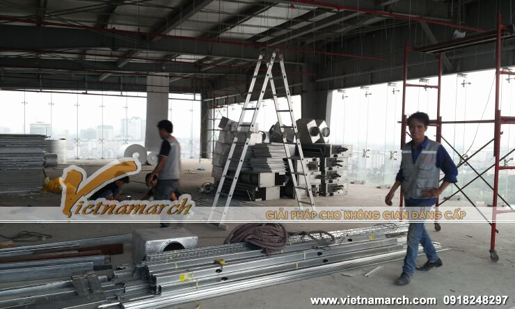 Quá trình thi công nội thất Showroom Phan Anh Luxury Living