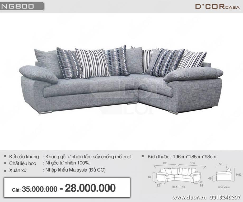 Mẫu ghế sofa vải nỉ tân cổ điển nhập khẩu Malaysia nhỏ nhắn