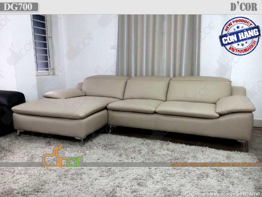Sofa da thật nhập khẩu Malaysia: DG700 cho phòng khách hiện đại