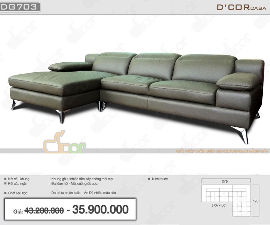 Sofa nhập khẩu cao cấp Malaysia da thật 100% cho phòng khách hiện đại