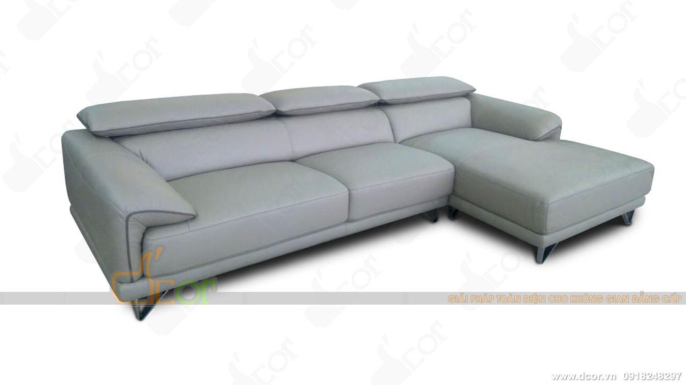 Ngất ngây với mẫu sofa da phòng khách cao cấp Malaysia DG704 sang chảnh