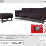 Sofa da thật nhập khẩu Malaysia sang trọng cho phòng khách: DV845